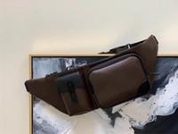 Christopher Homens Bumbag Clássico Lona Designer Cinto Saco Cross-corpo Genunie Genunie Couro Couro Homem Cintura Bolsas De Ombro Bolsa M45337