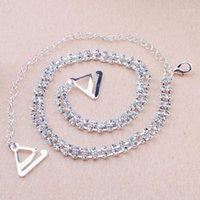 Intimates Acessórios Transparentes Clear 2 Fileiras Cristal Lindo Prom Diamante Rhinestone Bra Straps Belt1