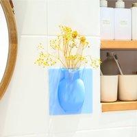 Silikon Yapışkan Vazo Sihirli Kauçuk Çiçek Bitki Vazolar Çiçek Konteyner Ofis Duvar Vazolar Dekorasyon Için Ev PPE3155