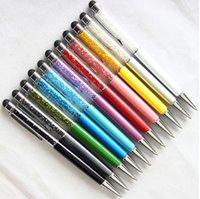 الجملة 2 في 1 الكريستال بوينت دا الماس ستايلس الشاشة بالسعة اللمس قلم القلم ل عالمي الوسادة اللوحي + الكرة نقطة القلم 300pcs / lot
