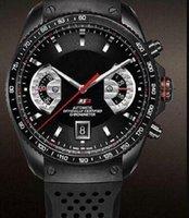 Hombre Heuer F1 Relojes mecánicos automáticos relojes de pulsera de estrella de acero inoxidable reloj de pulseras deportivas