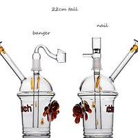 Beaker Bong Chicha Inedy Glass DAB Rigs Damme Dome Nail Smoking Glass Acqua Tubi Acqua Bongs Narghilè con giunto da 14 mm