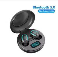 Auriculares inalámbricos azul-dientes azules 5.0 Mini TWS HIFI Auriculares Auriculares Sws a prueba de deportes Auriculares en oreja con micrófono