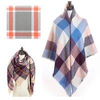 Bufandas de diseño de marca mujer bufanda 2021 invierno cachemira tamaño grande lady chal envoltura bandana tejido hembra foulard