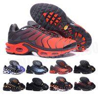Vapormax TN Plus Novo TN Plus Te Mens Sapatos Casuais TN Pacote Masculino Triplo Casual Masculino Shoe Pack Triple Black Men Sapatos Tamanho 36-46 B-160
