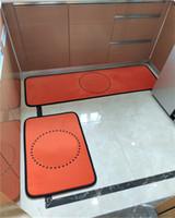 Tapetes de Hipster Laranja Top Quality Banheiro Cozinha Luxo Tapetes Interior Não-deslizamento Absorção de Água Muda Varanda Banho Esteiras de Designer