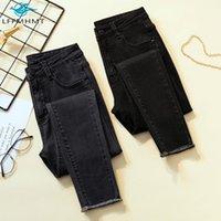Женские джинсы 100 кг 4XL большой размер женщин мода тонкий растягивающие джинсовые брюки офисные леди корейский стиль осень высокая талия черная тощая карандаш