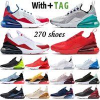 2021 최고 품질의 쿠션 270 OG Ultra Mens 여성 러닝 신발 플래티넘 옥 USA 브리드 CNY 무지개 27C 스니커즈 스포츠 트레이너 크기 36-45
