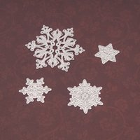 4pcs set Snowflake Cutting Dies Christmas Metal Cutting Dies Stencils Die Cut for DIY Scrapbooking Album Paper Card Embossing HH9-3656