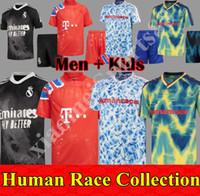 2020 2021 Human Race Collection Soccer Jerseys HRFC HumanRace Football Hemden 4. Vierund Hu Hufc Männer Kinder Kit Sets Uniformen MAILLT DE FOOT