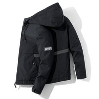 Men Hooded Jacket Striped And Big Pocket Men's Jacket Casual Streetwear Hoodies Male Coat Bomber Jacket Man Chaquetas Hombre 4XL