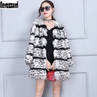 Nerazzurri Leopard Coat Women Furry Fluffy Winter Faux Fur Jacket Luxury Warm Female Plus Size Fake fox Fur Coats 5XL 6XL 7XL Z1205
