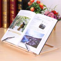 كتاب الخشب حامل حامل قابل للتعديل المحمولة خشبية مكربات الكمبيوتر اللوحي دراسة كوك وصفة كتب المدرجات مكتب الدرج المنظمون CYF4581
