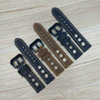 Spot-fit plana Pei Na Hai couro pulseira de couro de cavalo louco cor-de mudança couro três aberturas 22mm20mm pretos fivela
