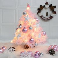 2020 Ornamento di Natale Piccolo albero di Natale Pacchetto Mini Decoration Desktop con 12pcs Ball Navidad Decoración