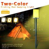 Al aire libre LED Luz de trabajo recargable Camping Portátil Portátil Lámpara Post Lightlight COB CAN REMOTO CAMBIO1