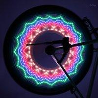 Tráfego de Segurança LED 32 Modos Bike Speak Luz Luz Impermeável à Prova D 'Água Pneu de Roda de Bicicleta Pintando Lâmpada Reflexiva Rambow1