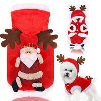Ropa de mascotas otoño invierno franela cálido festivo perro ropa gato alk ropa de Navidad año nuevo hombre T3i51461