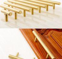 Gold Color TBAR Solid Brass Gabinete Manejo Muebles Drawer Pulls Cocina Armario Puertas Pul Jllcsv TrustBde