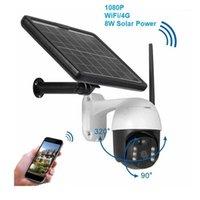 Câmeras PTZ Segurança Wi-Fi Wi-Fi IP Câmera Ao Ar Livre HD 1080P Energia Solar Sem Fio CCTV Two-Way Speak Vision1