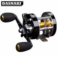 Freno centrífugo DASNAKI 5.2: 1 Carrete de pesca resistente a la alorrosión con click Click Spinning Metal Derecha Mano izquierda Cebo de cebo Z1128
