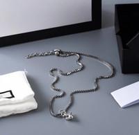 Новая мода бык головной кулон ожерелье посеребренное ожерелье высококачественная тенденция пара цепь ожерелье длинные ювелирные изделия