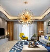 Orb Round Sputnik Lampadari Lampadari Cucina Sala da pranzo Bar Golden Indoor Home Dander Lighting