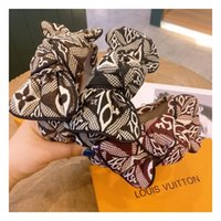 2021 Women Letter Print Bowknot Wide Hairband Cross Knotted ...
