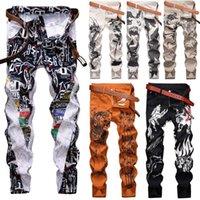 Männer Skinny Jeans Blumenhose Casual Hose Slim Fit Stretch Denim Männer Casual Jeans Long1