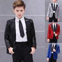 Мужские костюмы Blazers Black Promet Party Boys Black Stage Performance Puxedo Mad Formate Wedding Suit Детская куртка с штанами набор 2 P