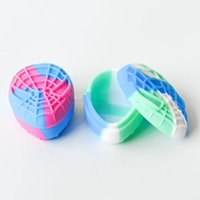 Spider shape silicone wax container 22ml big silicone jars dab wax vaporizer oil rubber large food grade silicon dry herb box bongs