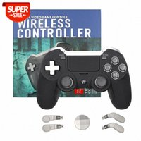Bluetooth Wireless Gamepad per PS4 Dual Vibration Elite Game Controller Joystick per PS3 / PC Video Gaming Console # 4x5o