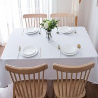 Настольная ткань 150 * 600cmwhite свадебные украшения скатерть день рождения вечеринка для прямоугольного сада декор круглый