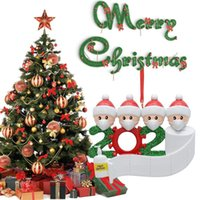 12 Stunden Schiff Harz Quarantäne Weihnachtsdekorationen für Home DIY Personalisierte Weihnachtsbaum Hängende Verzierung mit Stift Party Suppies Geschenk
