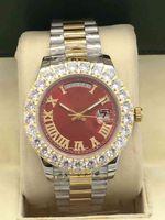 Hot Fashion Top Designer Diametro 43mm Big Diamond Non riparazione Acciaio Automatico Meccanico Pieghevole Pieghevole Pieghevole per uomo Attustico