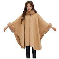 Women's Wool Blends Women Giacca a vento Giacca di modo Casual Lana Outwear Outwear Collar Parka Cardigan Cloak Cappotto Abrigos Mujer Invierno