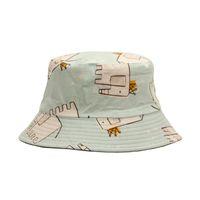 Широкие шляпы Breim шапки мультфильм шляпа животных полярное медведь на солнцезащитный слон дизайн дышащий свиночный рыбак