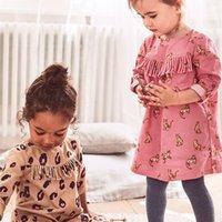 Марка 100% тканые хлопчатобумажные девочка одежда 2020 осенние детские дети с длинным рукавом платье для девочек Топы Детские цельные платье 1- LJ200921