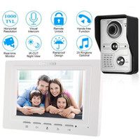 7 inch Wired Video Doorbell Indoor Monitor IR- CUT Rainproof ...