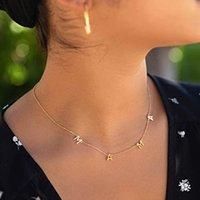 Mama Brief Anhänger Halskette Gold Silber Kupfer Brief Halskette Muttertag Modeschmuck Geschenk für Mama Geburtstagsgeschenk