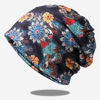 Beanies Baskılı Önlük Türban Şapka kadın Kapüşonlu Elastik Çift Amaçlı Kazık Kap Kış Şapkalar Kadınlar Için Bonnets Kova