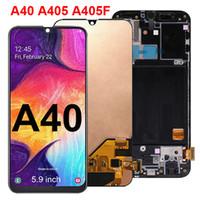 100% testé super amolé pour Samsung Galaxy A40 LCD SM-A405F écran tactile écran tactile écran de rechange de rechange de rechange en gros