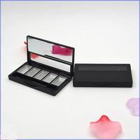 Paleta de sombra de ojos Vacío Lápiz labial Contenedor 5 Grids DIY Eyeshadow Embalaje Compacto con PAN de aluminio Pincel de labios Maquillaje Contenedor 1
