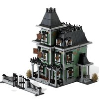 Block Monsters Fighter The Haunted House Firehouse Sede quartier generale 16007 10228 Building Blocks Movie Toys Gifting Kids Regali X0102
