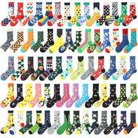 Pamuk Komik Çorap Erkekler Dot Buz Limon Karpuz Kiraz Kişilik Mutlu Sanat Boyama Kadın Sokken Yağı Noel Hediyeleri Erkek