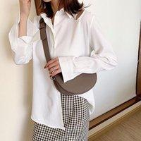Feminino Messenger Bag Moda Impermeável Jovem Menina Bolsa de Ombro PU Personalidade de couro cotidiano Sacos pequenos Brown Fácil de limpar