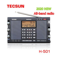 TECSUN H-501 Tragbare Stereo-Radio Full Band FM SSB-Radio-Empfänger Dual-Horn FM-Lautsprecher mit Musik-Player