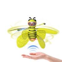 Mini Arı Drone UFO Uzaktan Kumanda Oyuncaklar RC Hayvan Uçak Oyuncak Çocuklar Dropship RC Helikopter Sinek Topu Oyuncaklar Doğum Günü Hediyesi Için