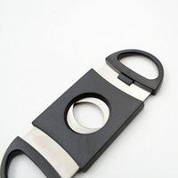 도매 휴대용 블랙 도금 더블 블레이드 시가 샤프 커터 9 * 4cm 미니 포켓 가제트 스테인레스 스틸 시가 나이프 PPD2984