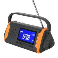 Radio MD-097 Portable FM Raido Solaire Main Solar Manivelle WB Outo Outout Dynamo Météo Chargeur Flash Light1